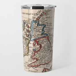 Vintage Map of The British Isles (1659) Travel Mug