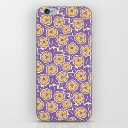 Flower Bouquet Pattern Lavender and Yellow iPhone Skin
