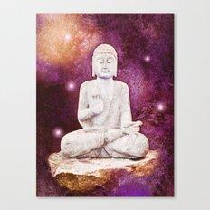 BUDDHA | Red Lights Canvas Print