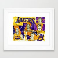 lakers Framed Art Prints featuring Lakers Force 5///// by Maddison Bond