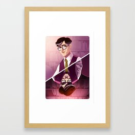 Prof. Plum Framed Art Print