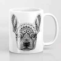 frenchie Mugs featuring Frenchie by BIOWORKZ