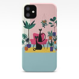 Sleek Black Cats Rule In This Urban Jungle iPhone Case