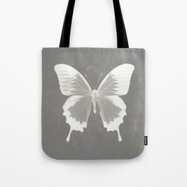 Butterfly on grunge surface Tote Bag