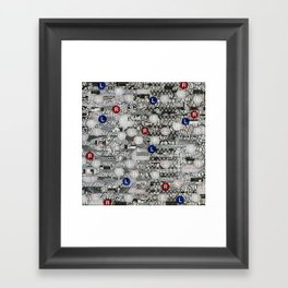 Do The Hokey Pokey (P/D3 Glitch Collage Studies) Framed Art Print