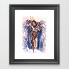 Ice Temple Queen Framed Art Print