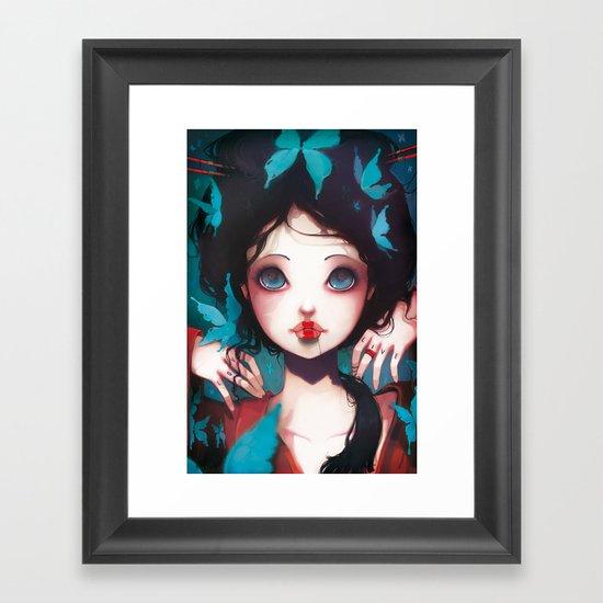 Nachtfalter Framed Art Print