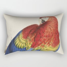 Vintage Illustration of a Macaw Parrot (1832) Rectangular Pillow