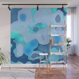 Blue Bubbles Wall Mural