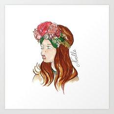 Ellie Rose Art Print