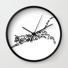 I Love Cats 03 Wall Clock