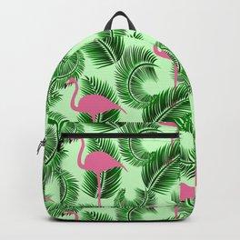 Flamingo tropical pattern Backpack