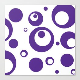 Circles Dots Bubbles :: Grape Juice Inverse Canvas Print