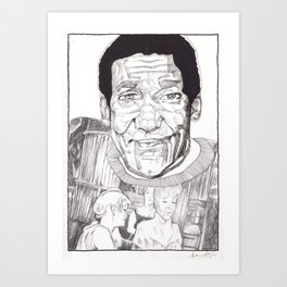 Bill Cosby in a Toulouse Lautrec Sweater by Aaron Bir Art Print