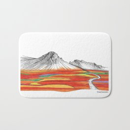 Mountain Landscape Contemporary Art, Mountain drawing, Modern Art, nature , Abstract Art, Mountains Bath Mat