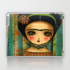 Frida In A Purple And Blue Dress Laptop & iPad Skin