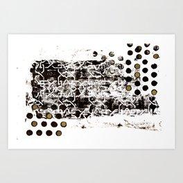 Dotty Arabesque Art Print