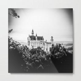 Neuschwanstein Castle from the Bridge Metal Print