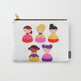 Original princess in Shop : with Fashion hairstyles Carry-All Pouch