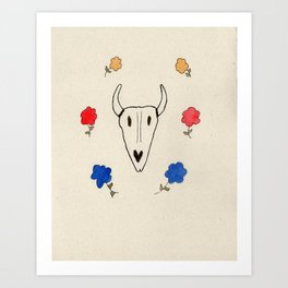 Skull Friend Art Print