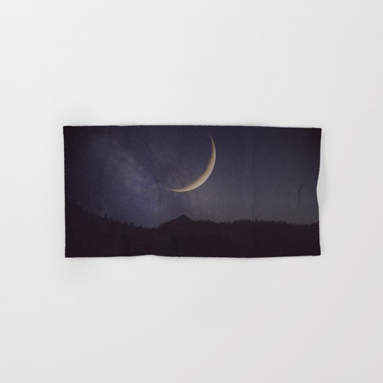 Moon and stars landscape Hand & Bath Towel