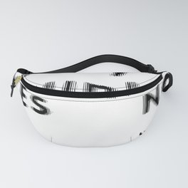 Are You Drunk Test For Partygoers Black Text Fanny Pack