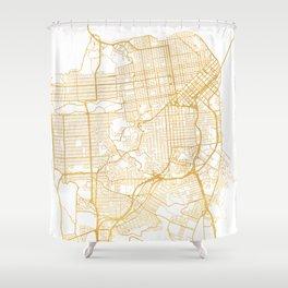 SAN FRANCISCO CALIFORNIA CITY STREET MAP ART Shower Curtain