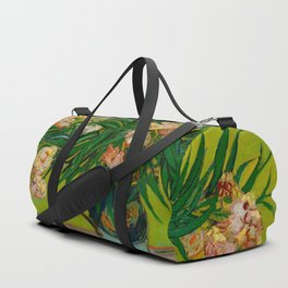 Oleanders Vincent van Gogh Oil On Canvas Floral Still Life Painting Duffle Bag