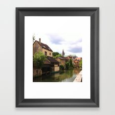 Chartres Canal, France Framed Art Print