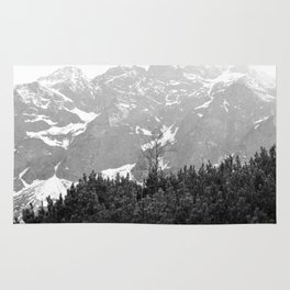 Tatry in Black and White Rug