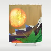 hot Shower Curtains featuring Feeling HOT HOT HOT by Lynsey Ledray