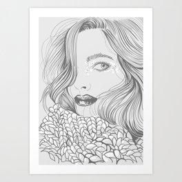 cold autumn Art Print