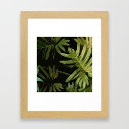 Leaves #green#leaves Framed Art Print
