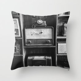 Retro Stand (Black and White) Throw Pillow