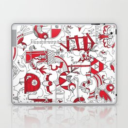 Birdhouse (black, white and red) Laptop & iPad Skin