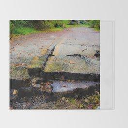 Broken Road Throw Blanket