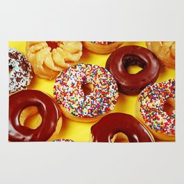 Assorted donuts Rug