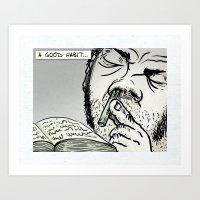 A Good Habit Art Print