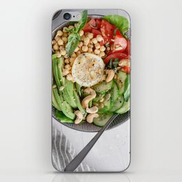 Healthy lunch bowl iPhone Skin