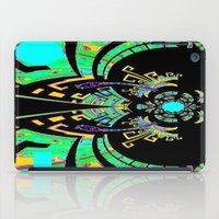 malachite iPad Cases featuring Aztec Malachite Dragon Calender by SharlesArt
