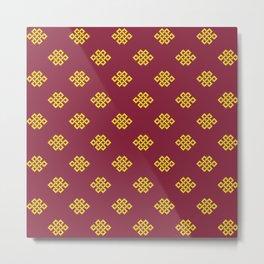 Eternity knot, endless knot pattern Metal Print