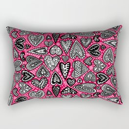 """hearts"" by lalaLaMonique Rectangular Pillow"