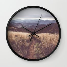 Bieszczady Mountains - Landscape and Nature Photography Wall Clock
