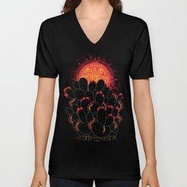 Cactus Sunset Unisex V-Neck