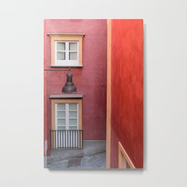 Colored yellow and red buildings, typical Mediterranean style Metal Print