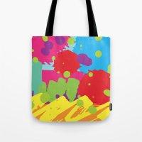 graffiti Tote Bags featuring Graffiti by rivercbishop