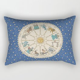 Vintage Astrology Zodiac Wheel Rectangular Pillow