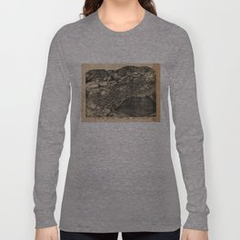Vintage Pictorial Map of Aspen Colorado (1893)  Long Sleeve T-shirt