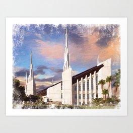 Las Vegas Nevada LDS Temple Art Print