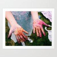 tye dye Art Prints featuring Dye by Amy Kelly